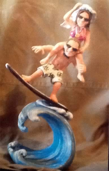 surfer wedding cake topper slo baked bakery cakes 20657